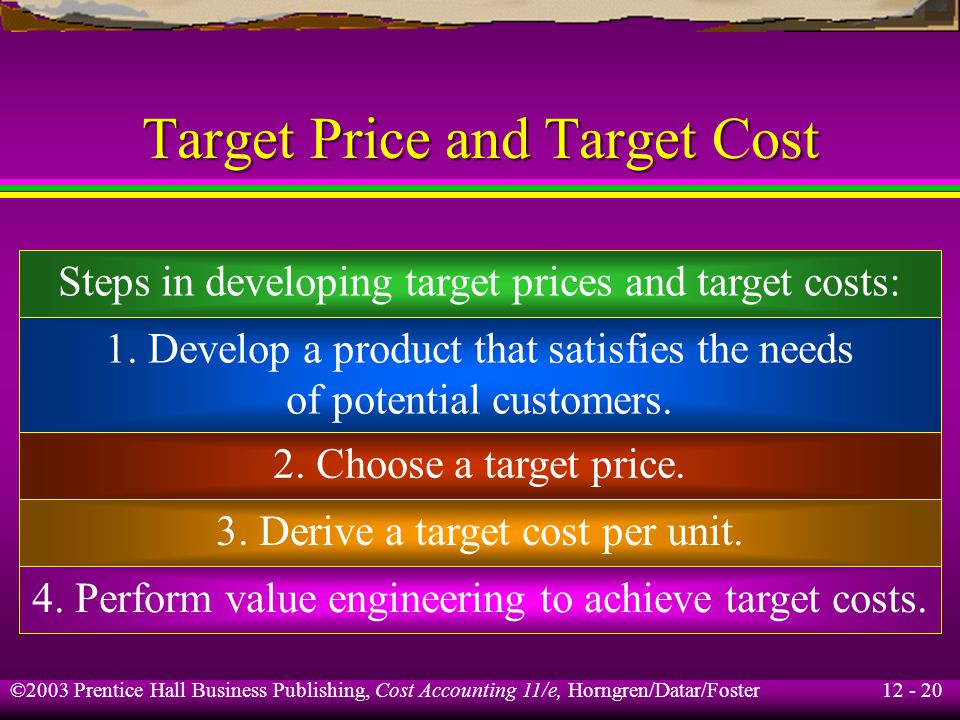 Target Price and Target Cost