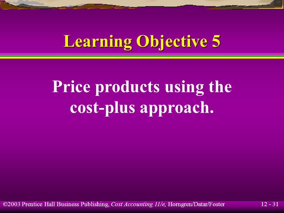 Price products using the