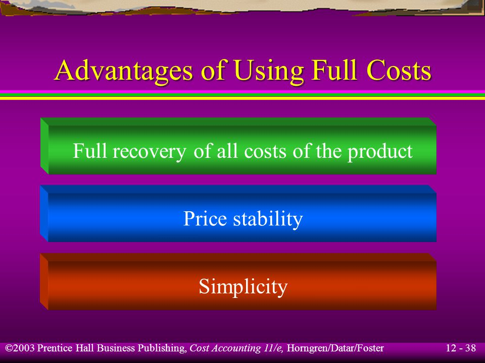 Advantages of Using Full Costs
