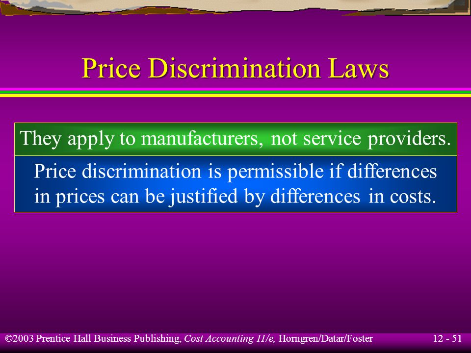 Price Discrimination Laws