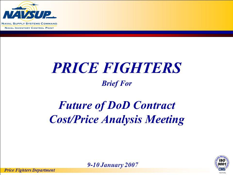 Cost/Price Analysis Meeting