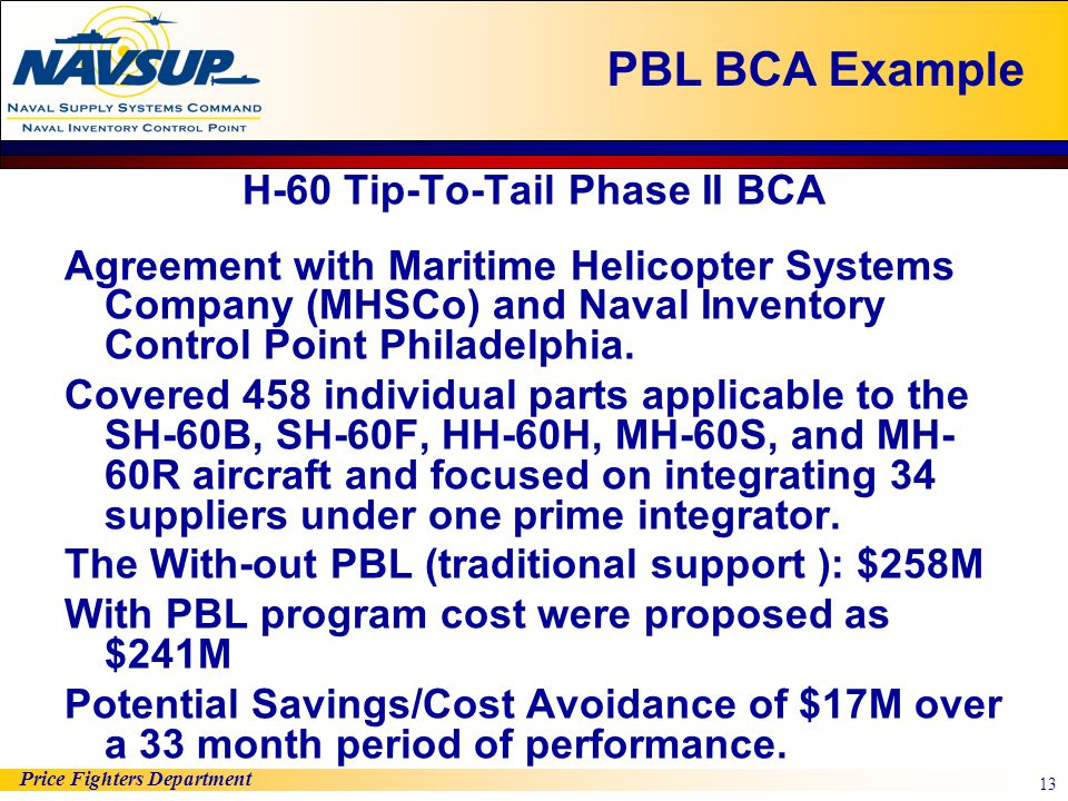 H-60 Tip-To-Tail Phase II BCA