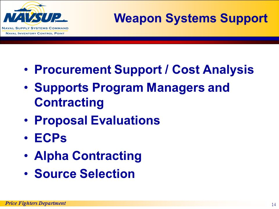 Weapon Systems Support