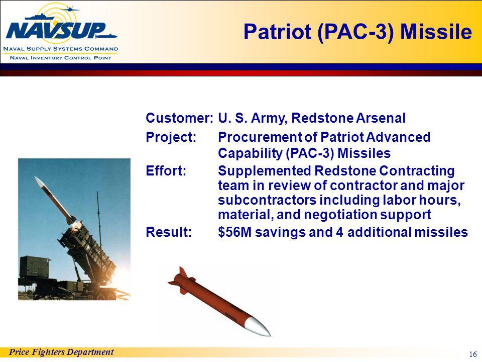 Patriot (PAC-3) Missile