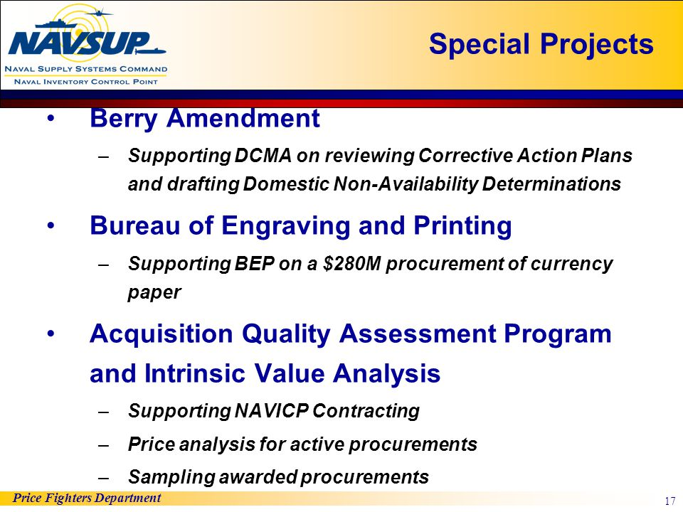 Special Projects Berry Amendment Bureau of Engraving and Printing