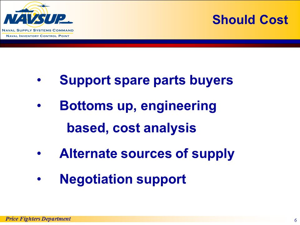 Support spare parts buyers