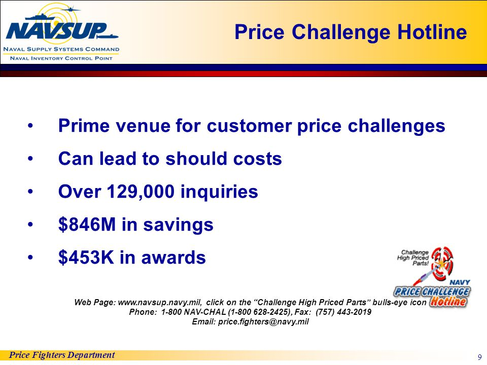 Price Challenge Hotline