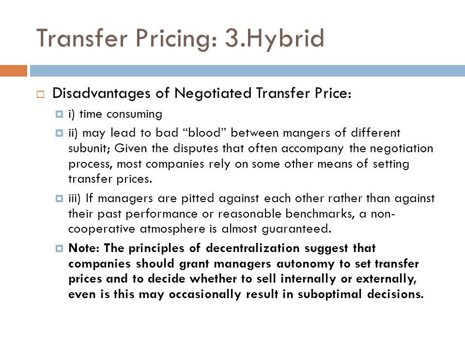 Transfer Pricing: 3.Hybrid
