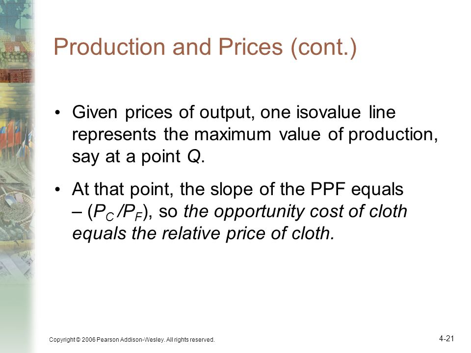 Production and Prices (cont.)