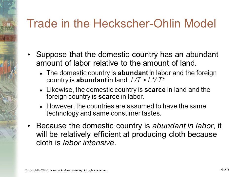 Trade in the Heckscher-Ohlin Model