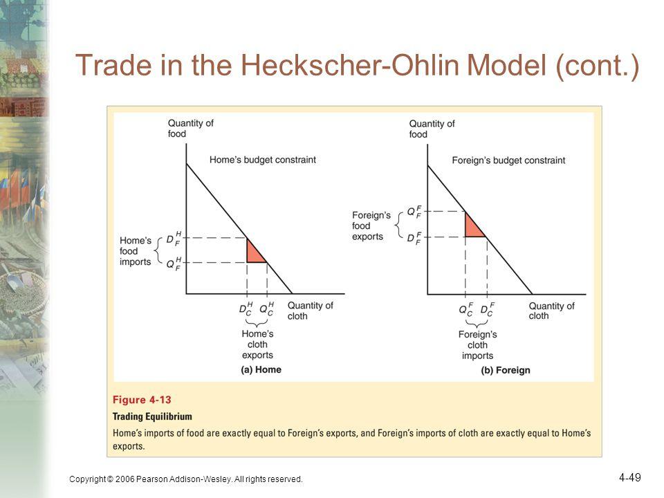 Trade in the Heckscher-Ohlin Model (cont.)