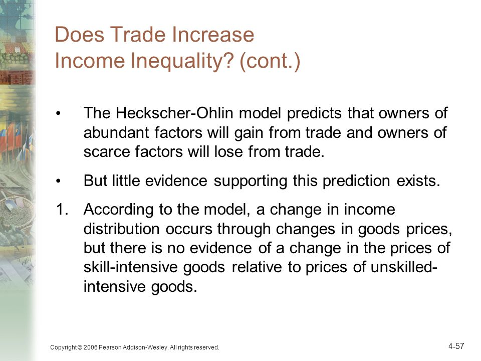 Does Trade Increase Income Inequality (cont.)