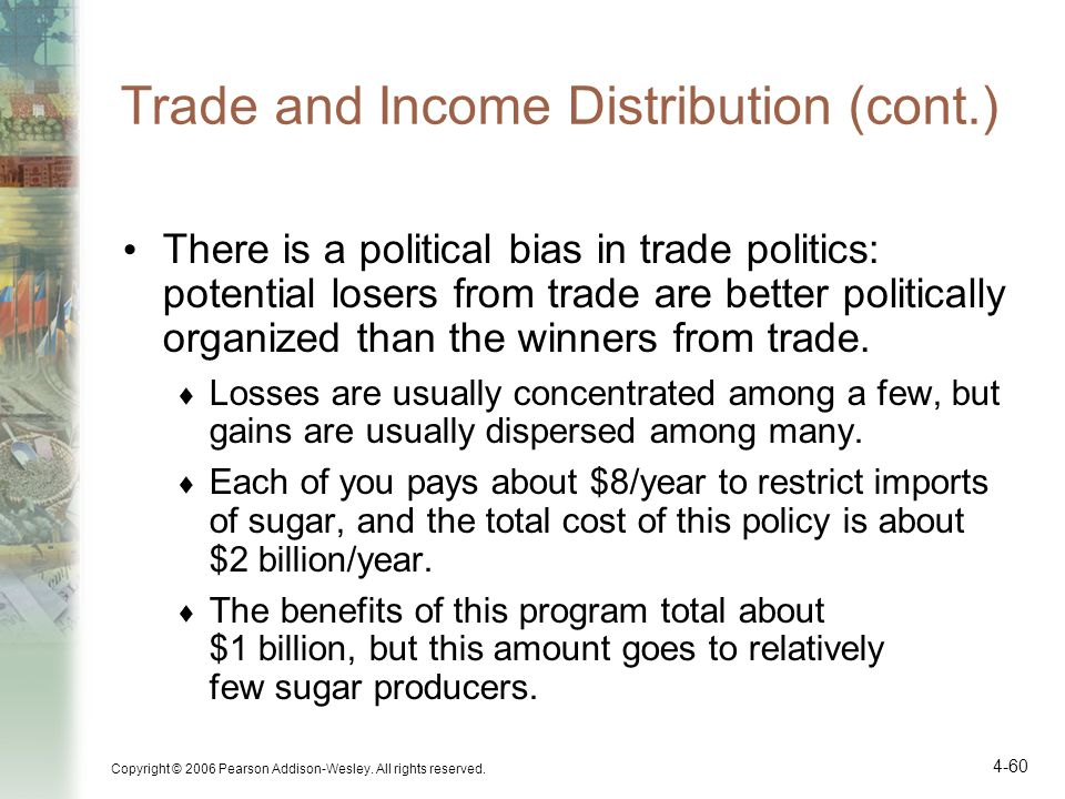 Trade and Income Distribution (cont.)