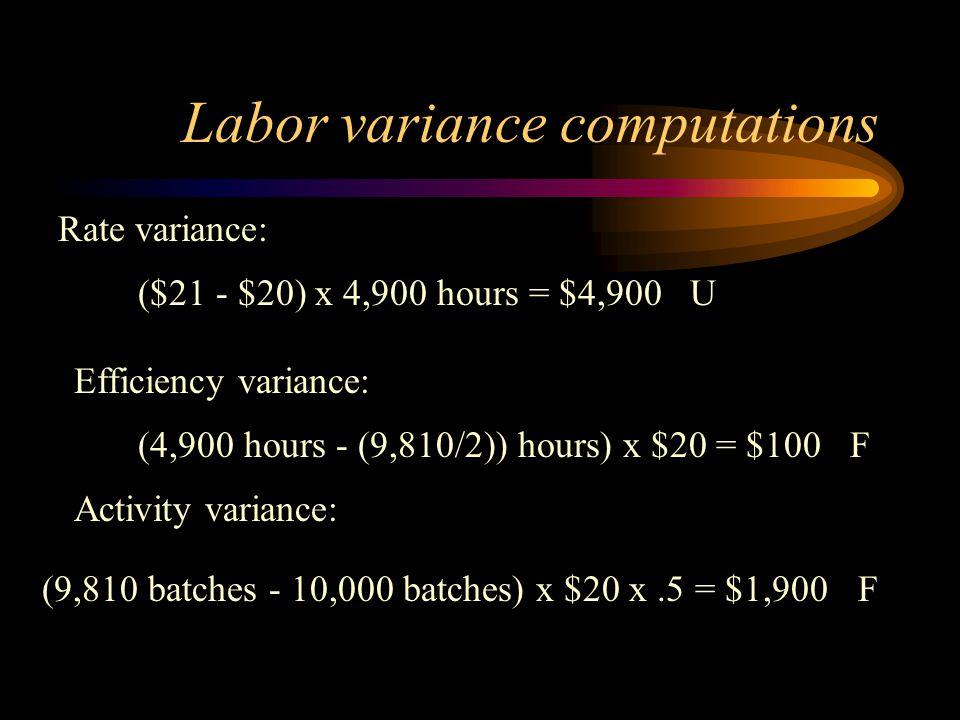 Labor variance computations