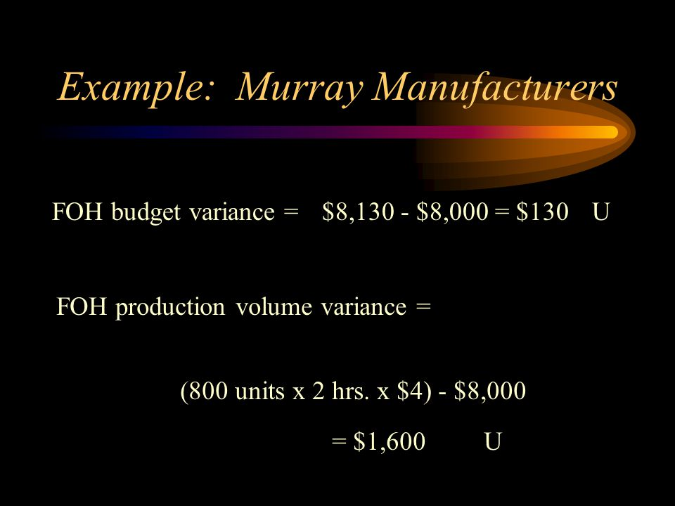 Example: Murray Manufacturers