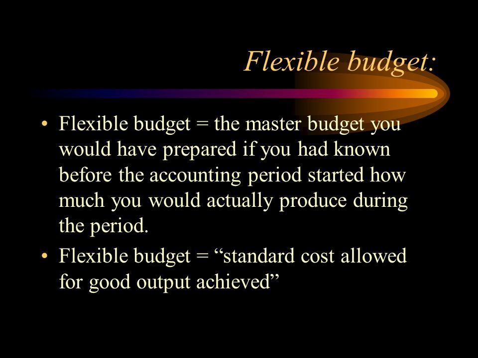 Flexible budget: