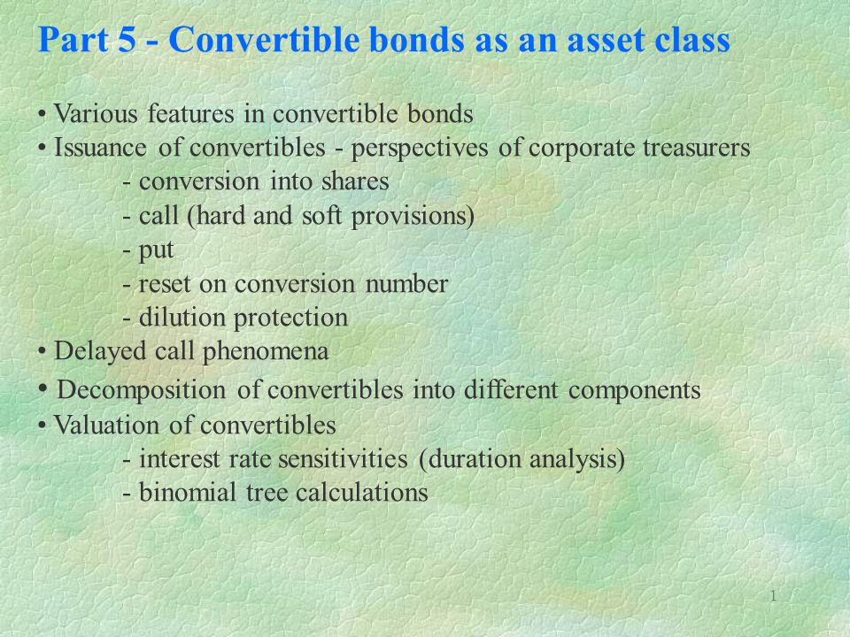 Part 5 - Convertible bonds as an asset class