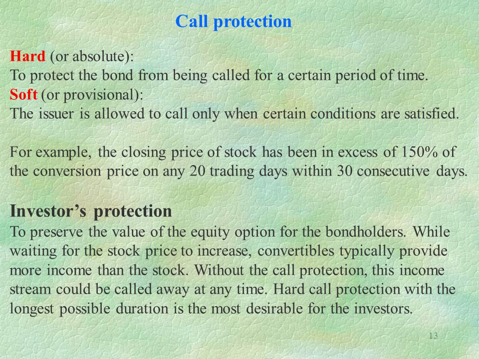 Investor's protection
