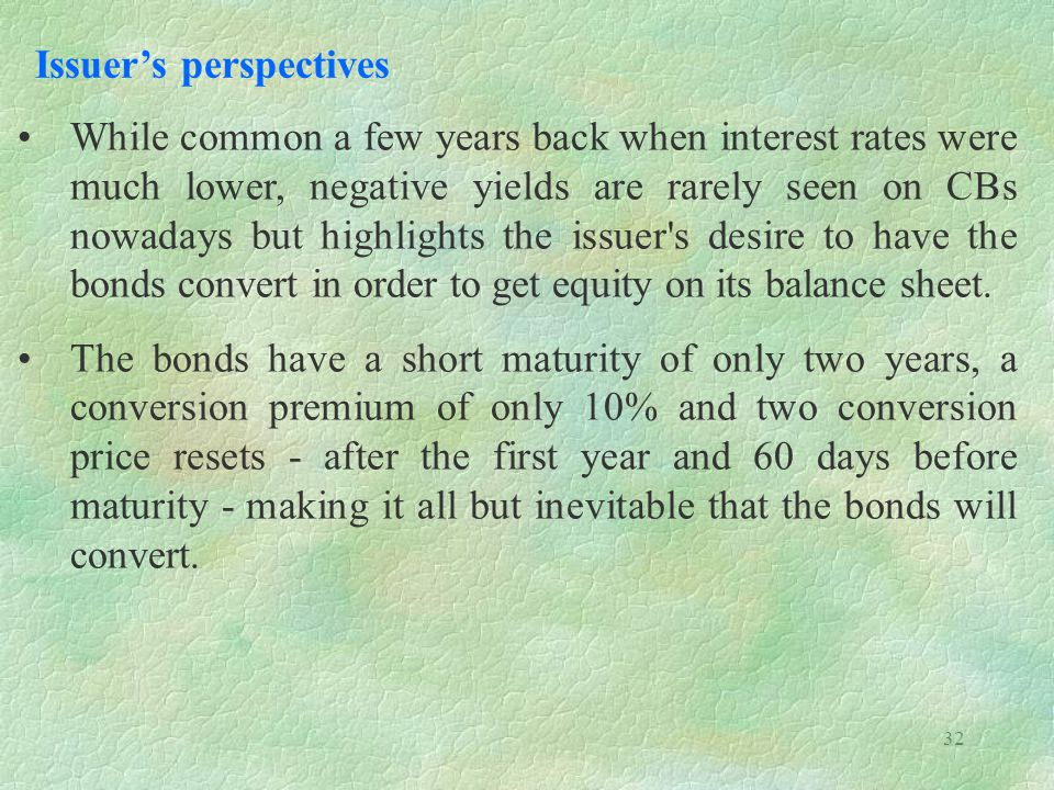 Issuer's perspectives