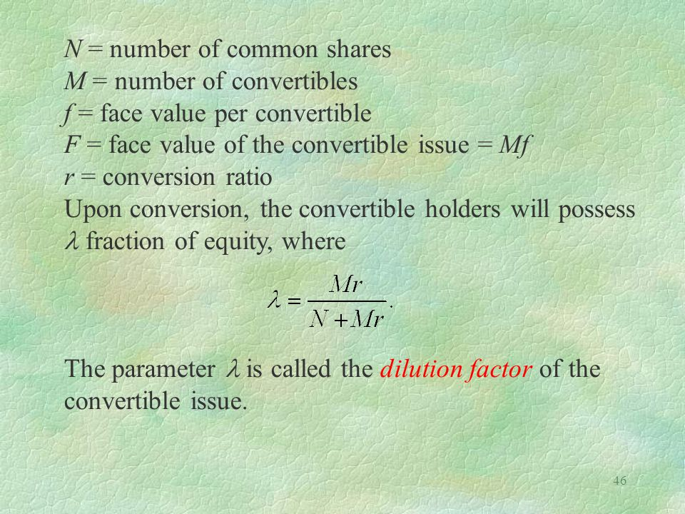N = number of common shares