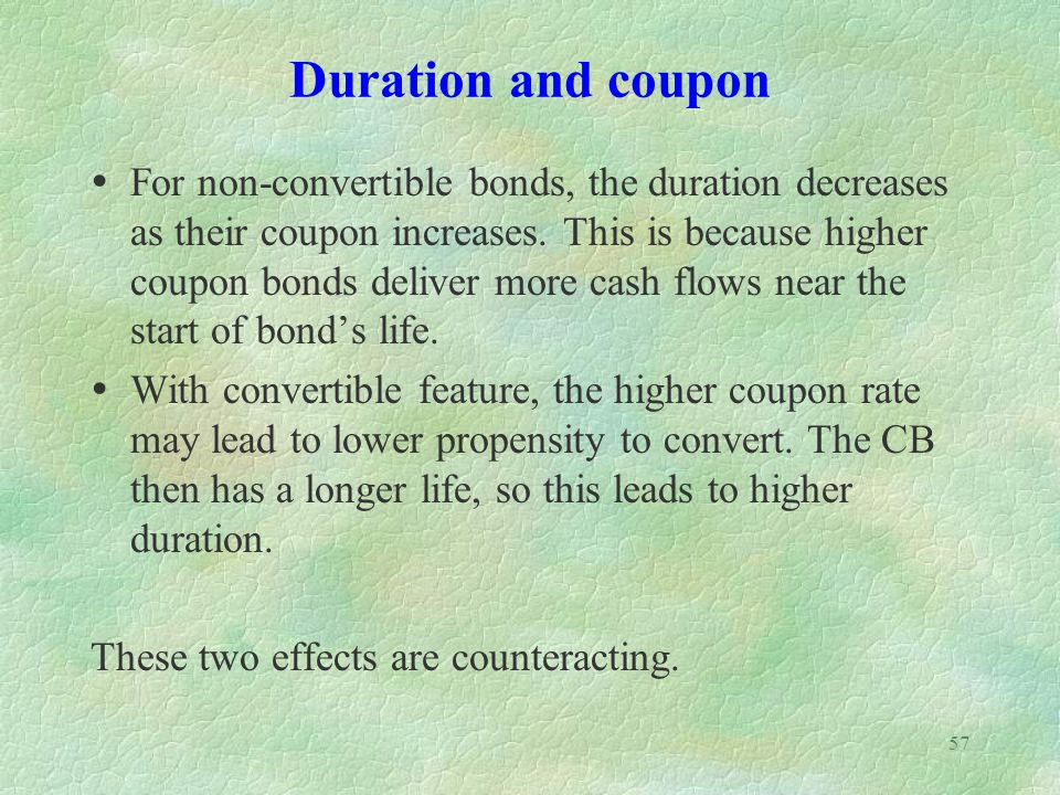 Duration and coupon