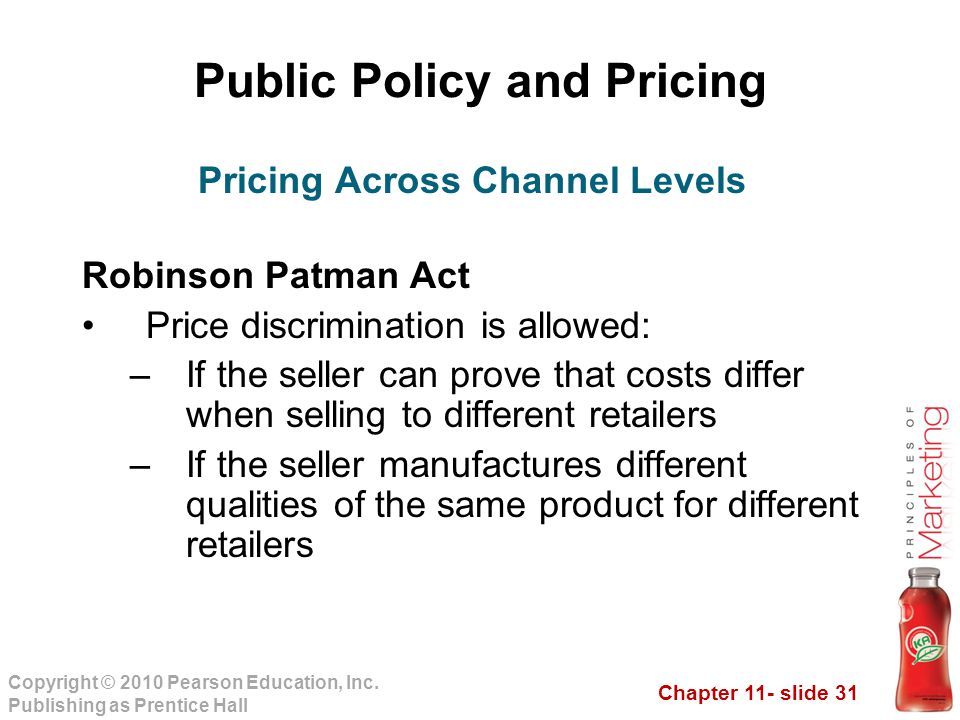 Public Policy and Pricing