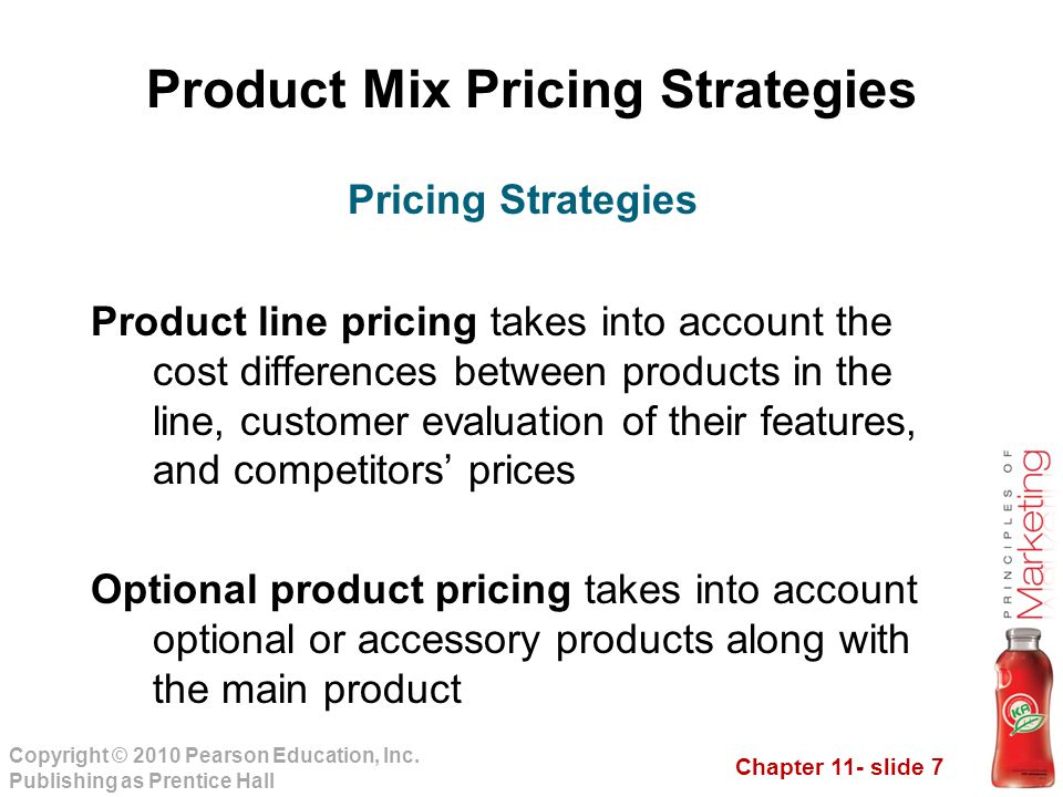 Product Mix Pricing Strategies