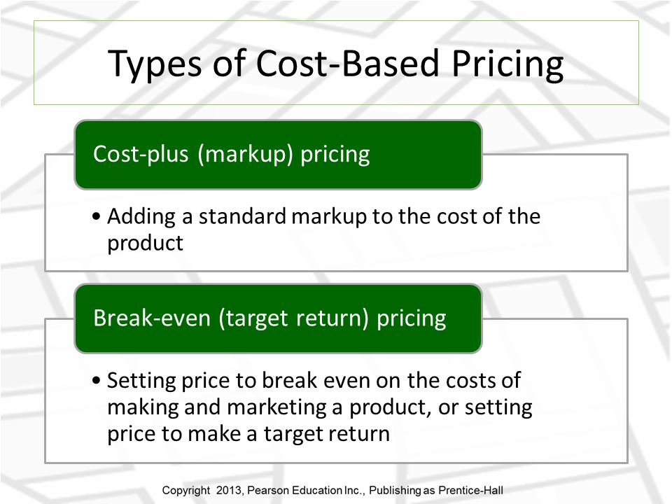 Types of Cost-Based Pricing