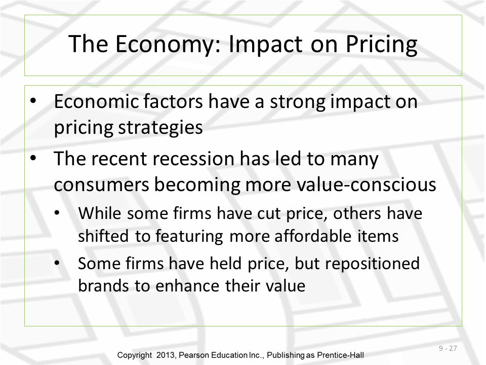 The Economy: Impact on Pricing