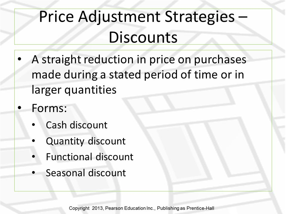Price Adjustment Strategies – Discounts