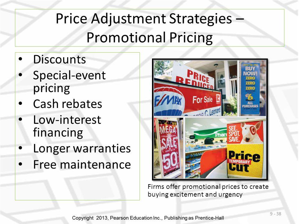 Price Adjustment Strategies – Promotional Pricing