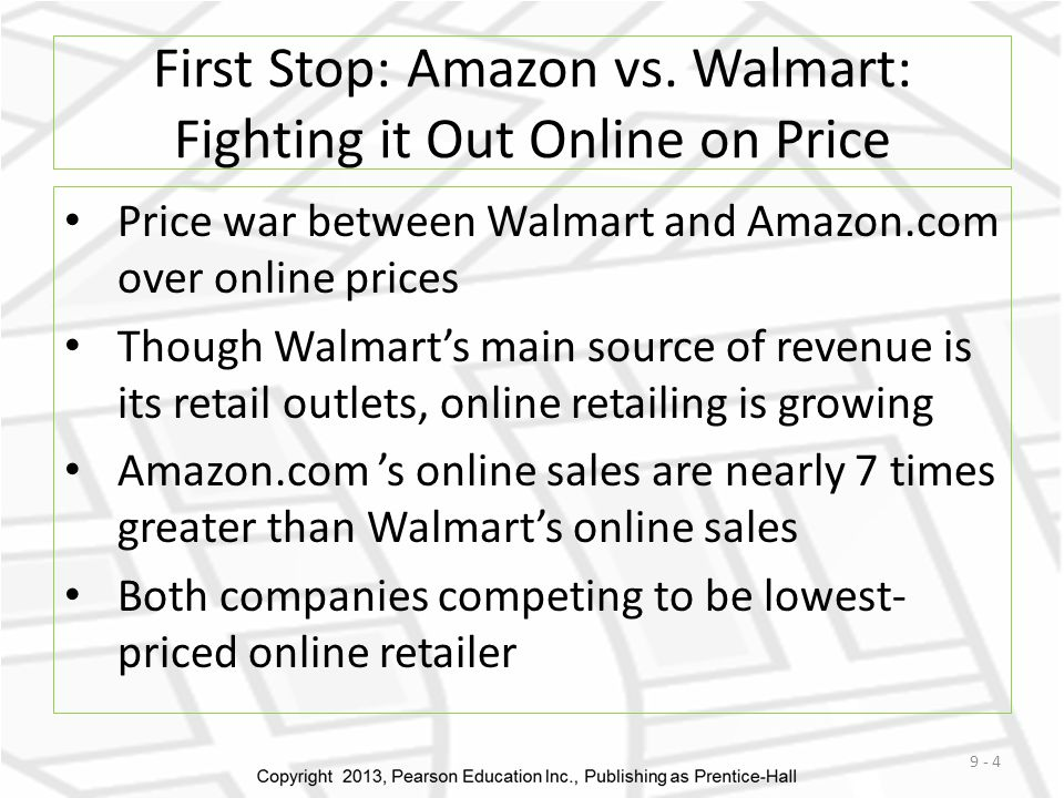 First Stop: Amazon vs. Walmart: Fighting it Out Online on Price