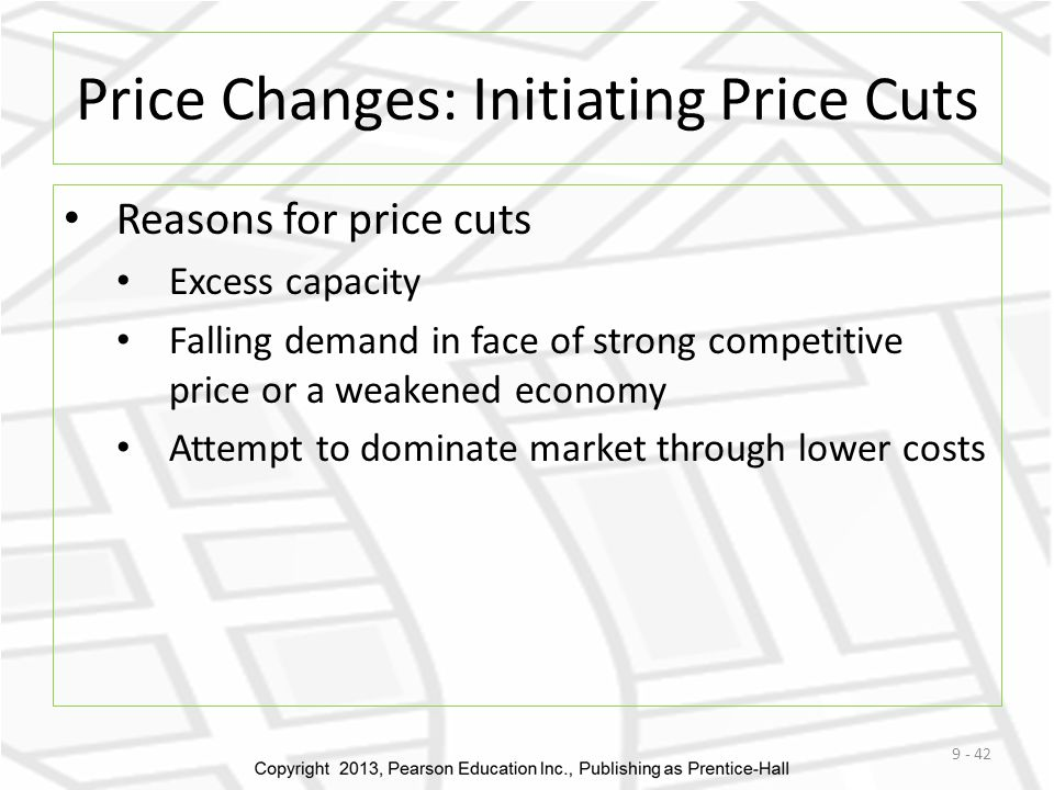 Price Changes: Initiating Price Cuts