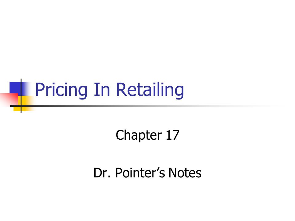 Chapter 17 Dr. Pointer's Notes