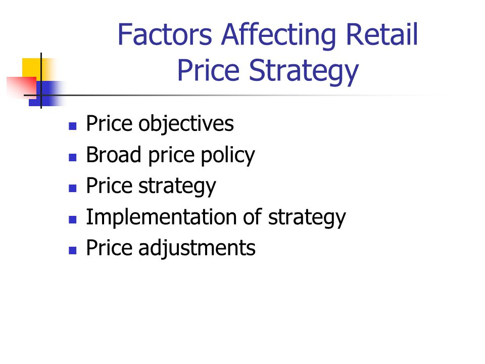Factors Affecting Retail Price Strategy