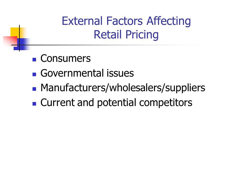 External Factors Affecting Retail Pricing