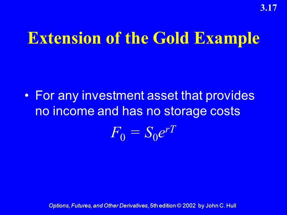 Extension of the Gold Example