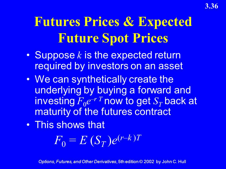 Futures Prices & Expected Future Spot Prices