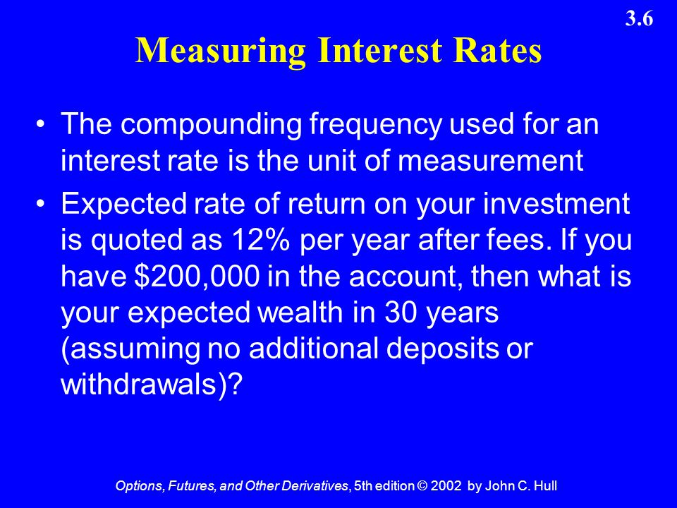 Measuring Interest Rates