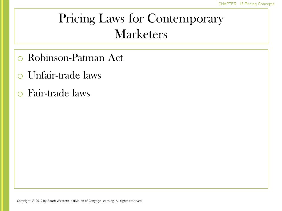 Pricing Laws for Contemporary Marketers
