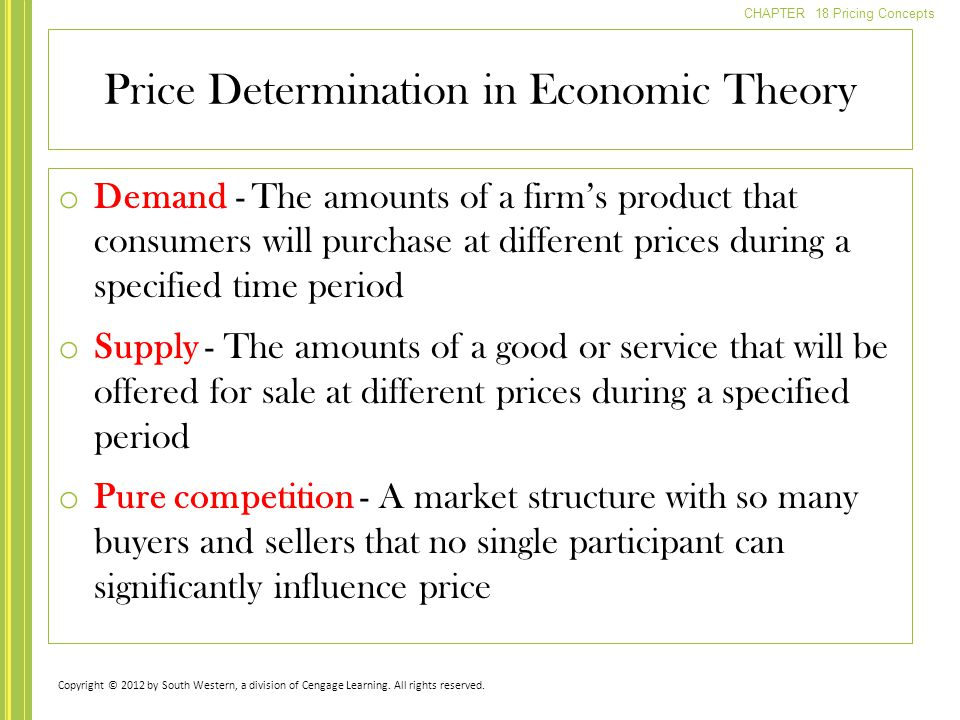 Price Determination in Economic Theory