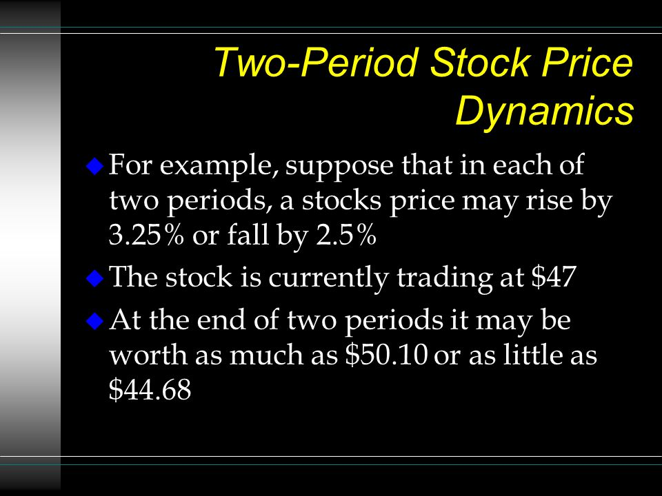 Two-Period Stock Price Dynamics