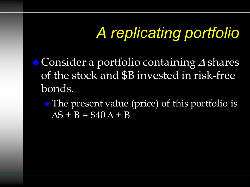 A replicating portfolio