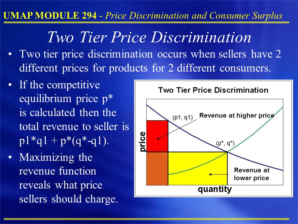 Two Tier Price Discrimination