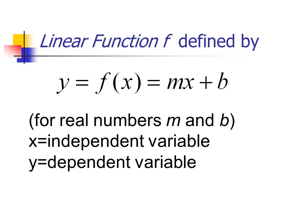 Linear Function f defined by