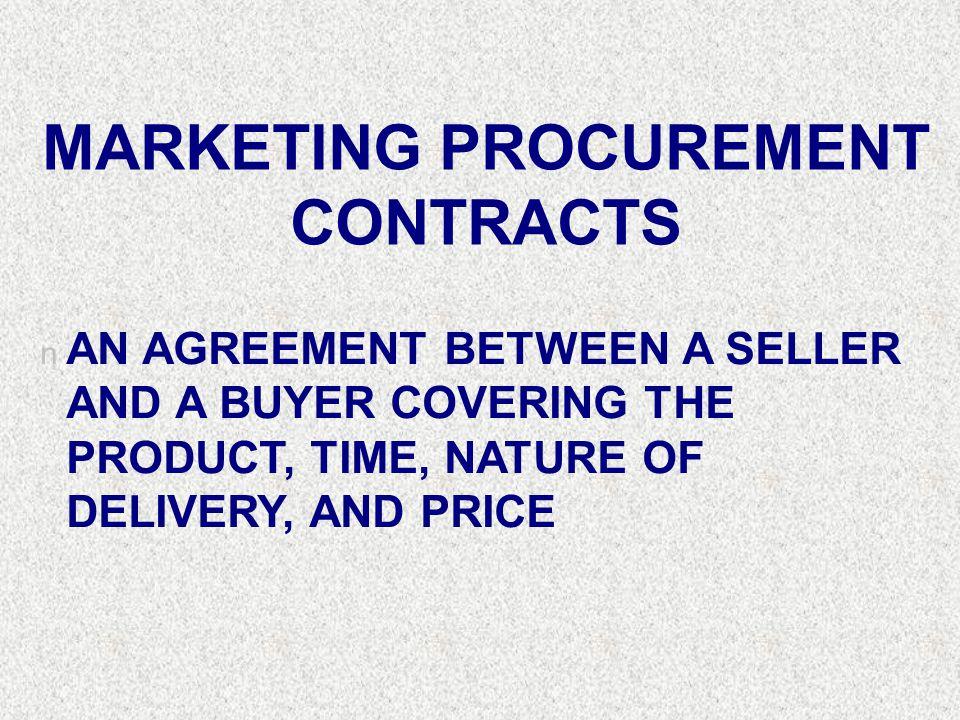 MARKETING PROCUREMENT CONTRACTS