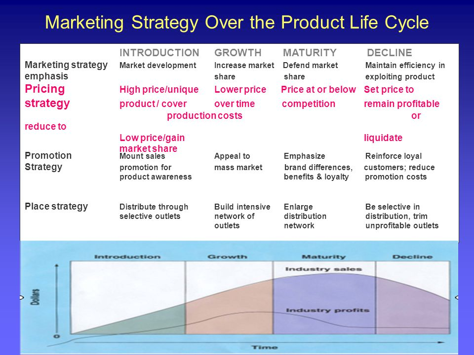 Marketing Strategy Over the Product Life Cycle