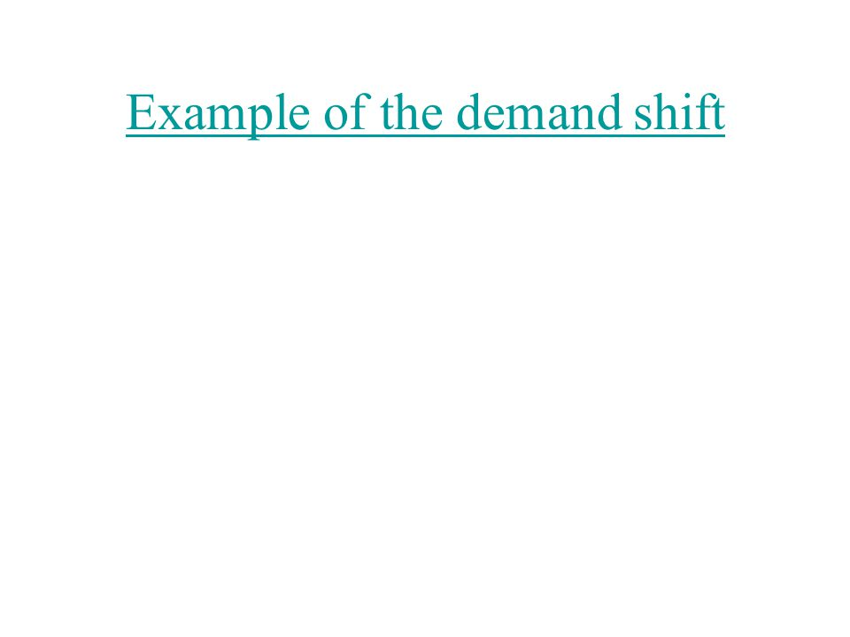 Example of the demand shift