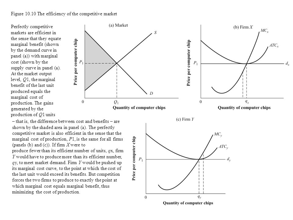 Figure 10.10 The efficiency of the competitive market