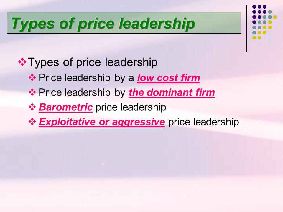 Types of price leadership